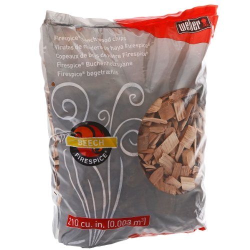 Weber 17905 Beech Wood Smoker Chips, 3-Pound