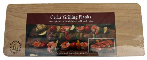 Nature's Cuisine NC004-4S 14 by 5-1/2-Inch Cedar Outdoor Grilling Plank, 4-Pack