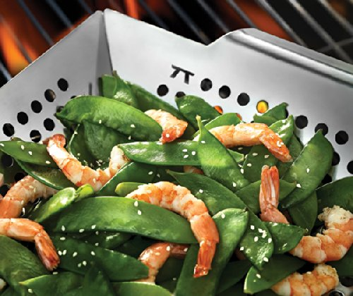 Outset QS70 Square Stainless Steel Grill Wok