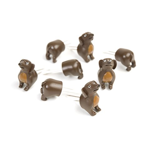 Charcoal Companion Wiener Dog Corn Holders (8 Pieces)-CC5009