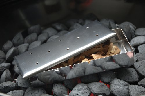 Charcoal Companion Stainless Steel Gas Grill Smoker Box with Lid
