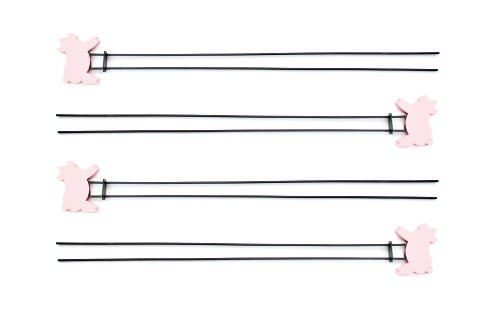 Charcoal Companion Double Prong Pig Skewers, Set of 4