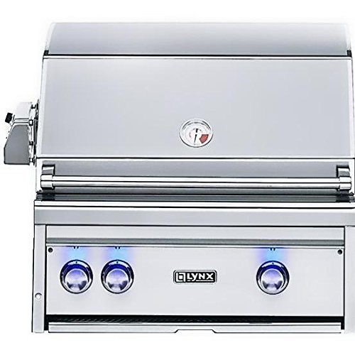Lynx L27PSR-3-NG Built-In Natural Gas Grill with ProSear Burner and Rotisserie, 27-Inch