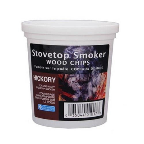 Wood Smoker Chips – Hickory Flavored Wood Chips (1 Pint)