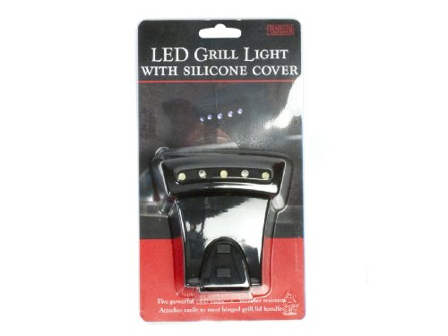 Charcoal Companion LED Grill Light w/Silicone Cover (Black) – CC5121