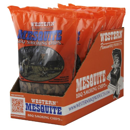 WESTERN 18074 6-Pack Mesquite Smoking Chips