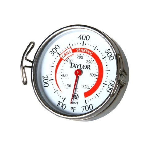 Taylor Classic Line Grill Guide Thermometer, Measures to 700-Degree