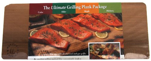 Nature's Cuisine NC010 14 by 5-1/2-Inch Cedar/Alder/Maple/Hickory Combo Outdoor Grilling Plank, 1 Each