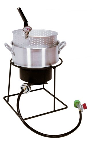 King Kooker 1205 12-Inch Propane Outdoor Cooker Set with Fry Pan