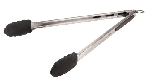 Cuisinart CIT-100 Silicone Tipped Locking Grill Tongs, 18-Inch