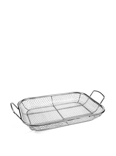Charcoal Companion Stainless Wire Mesh Roasting Pan, 14.75 by 11-Inch