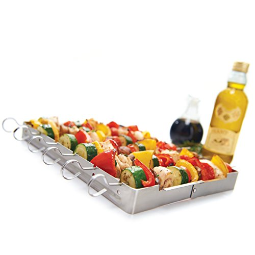 GrillPro 41338 Stainless Steel Shish Kebab Set