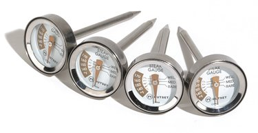 Outset F804 Stainless-Steel-Cased Steak Thermometers, Set of 4
