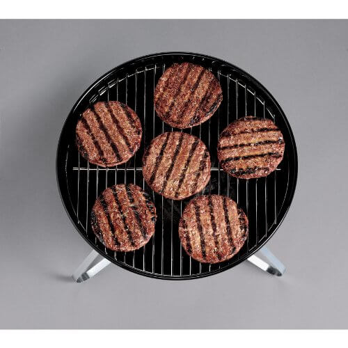 Weber 10020 Smokey Joe Silver Charcoal Grill, Black