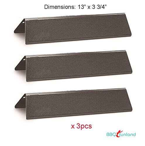 BBQ funland PH7635 (3-pack) Porcelain Enameled Heat Plate Replacement for Weber Spirit 200 Series Gas Grills, aftermarket replacements