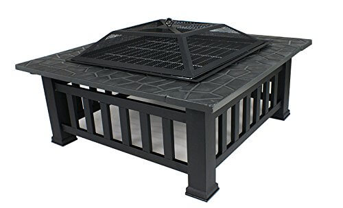 Zeny 174 Fire Pit 32 Quot Outdoor Square Metal Firepit Backyard