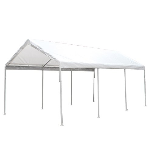 King Canopy HC1020PC 10-Feet by 20-Feet Hercules 8-Leg Canopy, White