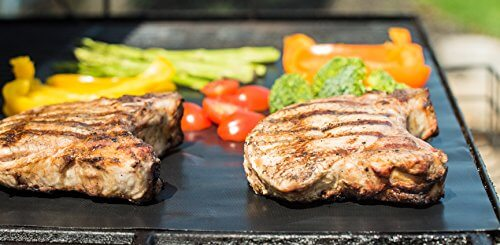 Set of 3 Highest Quality BBQ Grill & Baking Mats | 100% Non-stick | Works on Any BBQ Grill or As Pan Liner | Dishwasher Safe | Lifetime Guarantee with No-hassle Refund If You Are Not 100% Satisfied!