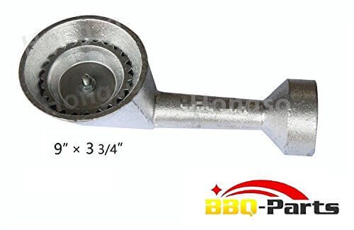 bbq-parts CBBG10 Silvery Cast-Iron Replacement Burner for Round Bayou Classic Cooker Frames BG10 (High Pressure)