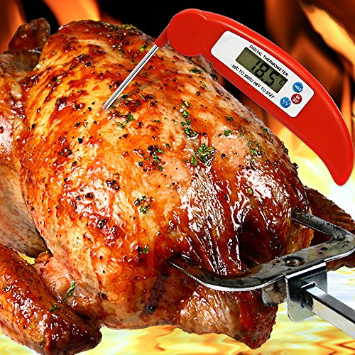 Bengoo Digital Stainless Cooking Thermometer with Instant Read, Long Probe & LCD Screen