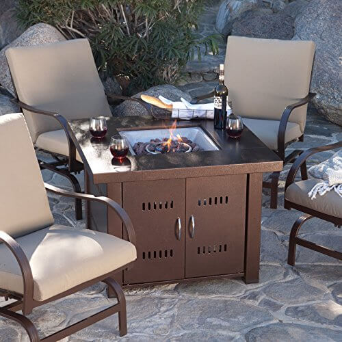Great Bbq Pit Set Up For The Backyard Perfect Under The: AZ Patio Heaters GS-F-PC Propane Fire Pit, Antique Bronze