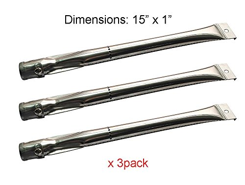 BBQ funland SB6221 (3-pack) Stainless Steel Burner for Charbroil, Grill Master, Nexgrill, Kenmore and Uberhaus Gas Grill Models