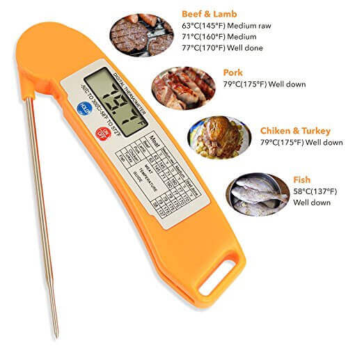 Wilker Digital Instant Read BBQ Meat Cooking Thermometer
