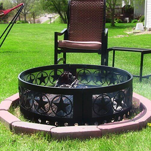 Sunnydaze Heavy Duty Four Star Campfire Ring, 36 Inch Diameter