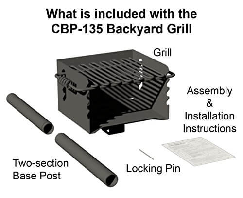 Heavy Duty Park Style Charcoal Grill – Pilot Rock – Model CBP-135