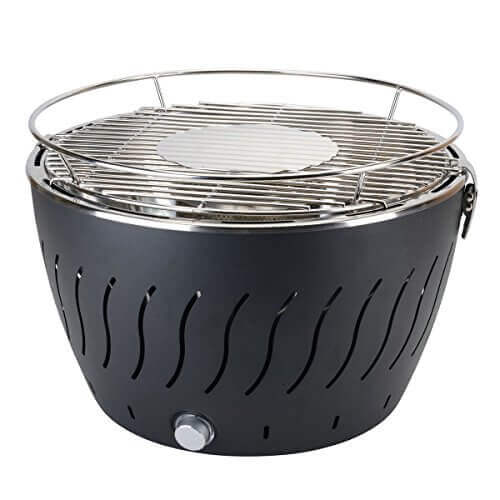 aobosi portable smokeless charcoal barbecue grill stainless steel nonstick surface battery operated outdoor - Stainless Steel Charcoal Grill