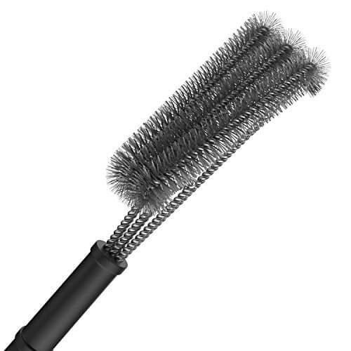 Griller PRO Barbecue Grill Brush – Best BBQ Cleaner – Beefy Handle & Industrial Strength Steel – Best For Char-Broil, Weber, Porcelain, Infrared and All Grills – 3 in 1 Brush *Satisfaction Guaranteed*