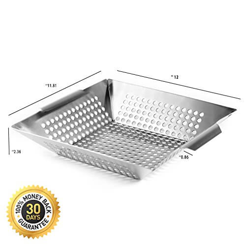 Vegetable Grill Basket Made From Stainless Steel For Gas Charcoal Gr