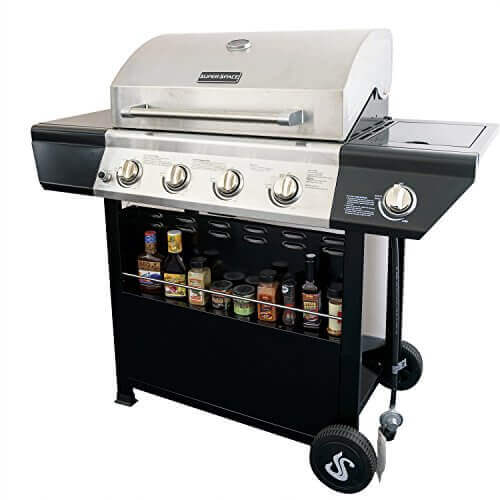 SUPER SPACE 60,000 BTU 4 Burner Barbecue BBQ Gas Grills Stainless Steel  Patio Outdoor Propane Gas