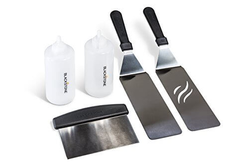 Blackstone Grill and Griddle Kit, 2 spatulas, chopper/scraper, 2 bottles