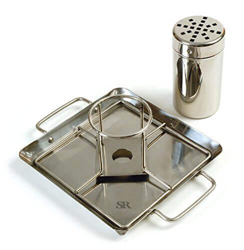 Steven Raichlen Best of Barbecue Beer-Can Chicken Rack with Canister and Drip Pan – Durable and Long-lasting (Stainless Steel) – SR8016.