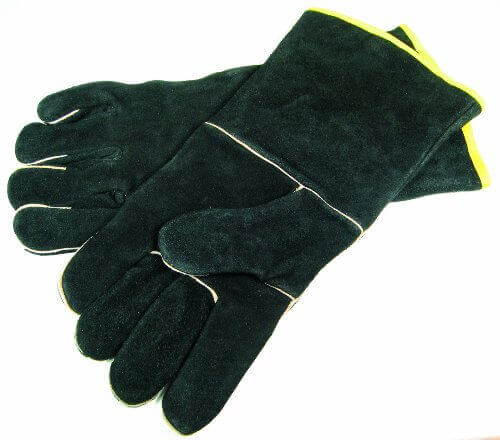GrillPro 00528 Black Leather BBQ Gloves