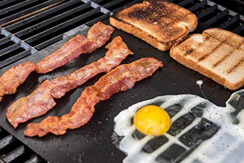 2 Premium BBQ Grill Mats. The Only Non-Slip, Never Stick, No Mess, Dishwasher Safe Grill Sheet You'll Ever Need. Perfect for Cooking, Baking and for the Barbecue. Grillite Barbecue Mats