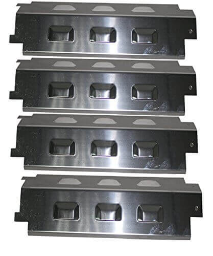 Grill Valueparts REV531S (4-pack) BBQ Replacement Gas Grill Stainless Steel Heat Plate For Charbroil, Grill King, Kenmore, Master Chef, Master Forge, Savor Pro and Thermos Model Grills (Dims: 14 5/8″ X 4 1/4″)