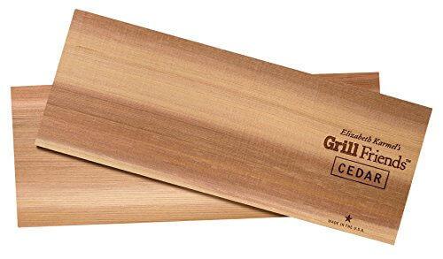 Elizabeth Karmel's 5.5 by 14.25-Inch Organic Cedar Grilling Planks, Pack of 2