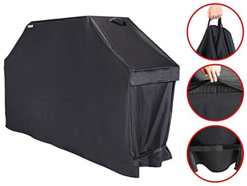 Unicook Heavy Duty Universal Barbecue Grill Cover, 55-inch, Color Fading Resistant, Easy Lifting Handles, Helpful Air Vents