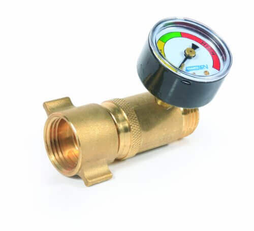 Camco 40064 Brass Water Pressure Regulator with Gauge – Lead Free