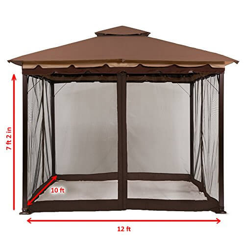 10′ x 12′ Mosquito Netting for Gazebo Canopy