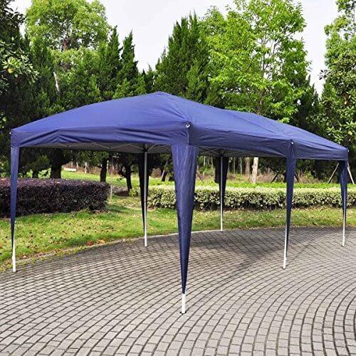 Giantex 10'x20′ Ez POP up Wedding Party Tent Folding Gazebo Beach Canopy W/carry Bag (White)