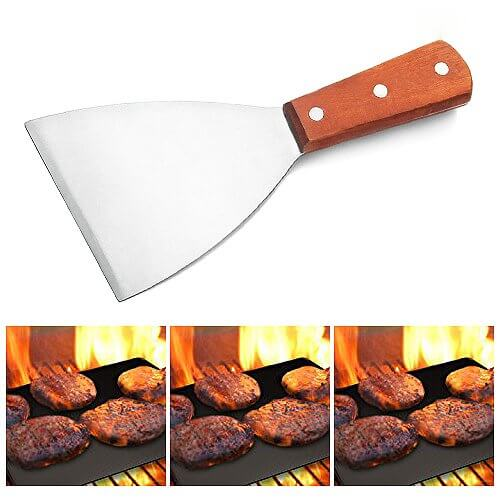 Adorox Grill Griddle Scraper Stainless Steel Commercial Grade 8 1/4 Inch Teppanyaki