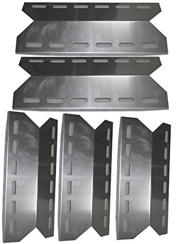 Grill Valueparts REV341S (5-pack) Stainless Steel Heat Plate For Barbeque Galore, Charmglow, Jenn-Air, Kirland, Members Mark, Nexgrill (Dims: 17 5/16″ X 5 11/16″)
