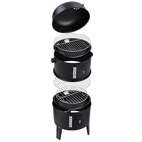 HANYA Smoker Grill BBQ Backyard Firepit Charcoal Cooker Meat Grilling