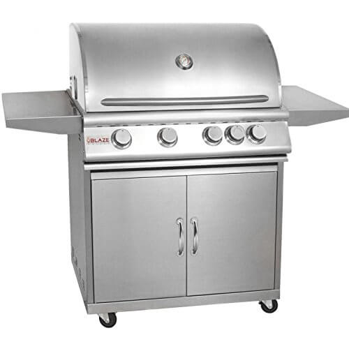 Blaze 32-Inch 4-Burner Freestanding Natural Gas Grill With Rear Infrared Burner – BLZ-4-NG