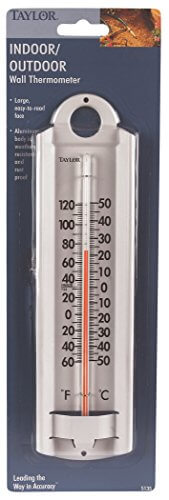 Taylor Indoor-Outdoor Aluminum Wall Thermometer