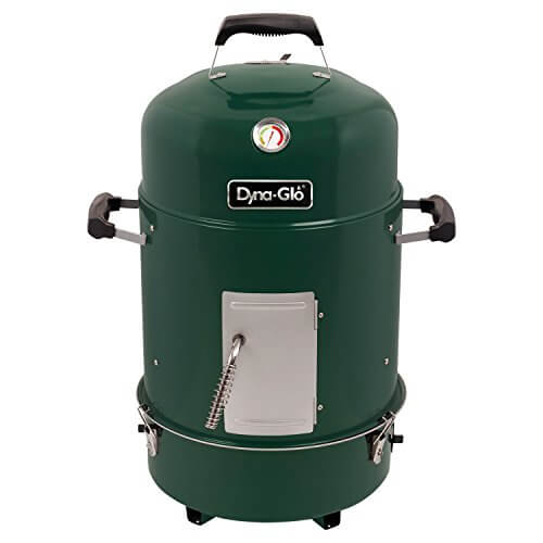 Dyna-Glo DGX376VCS-D Compact Charcoal Bullet Smoker – High Gloss Forest Green