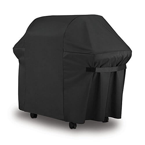 BBQ Gas Grill Cover 7107 for Weber: 44×60 in Heavy Duty Waterproof & Weather Resistant Weber Genesis & Spirit Series Outdoor Barbeque Grill Covers by LiBa